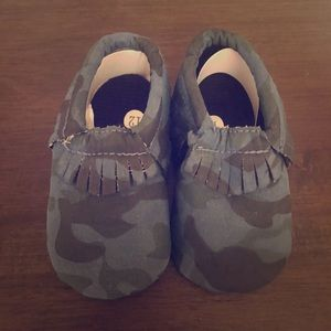 Other - Blue baby Camo Moccs